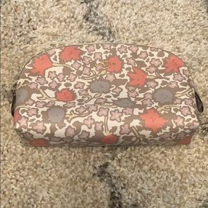 Coach floral print cosmetic case